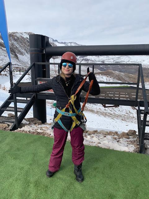 esquiar no Chile, Tirolesa no Chile,