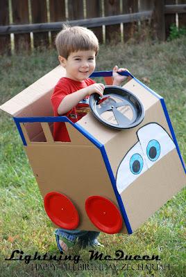 Lightning McQueen cardboard costume Cars