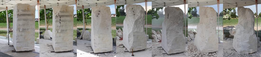 #Sculpture en pierre #Emmanuel Sellier#taille directe