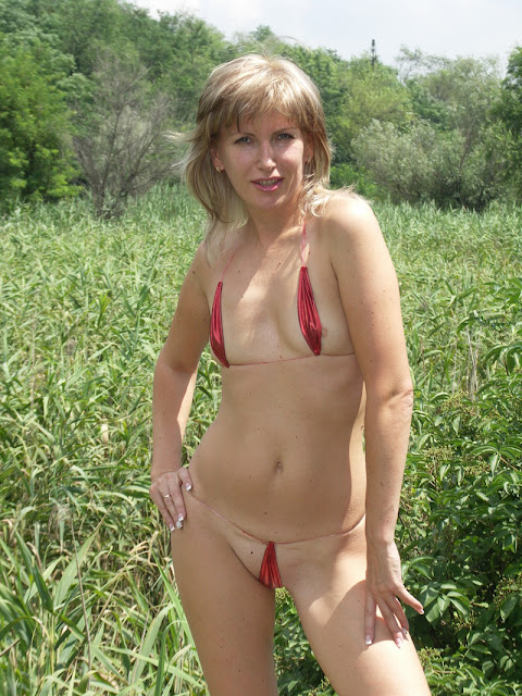 Mature moms and milfs in string bikinis