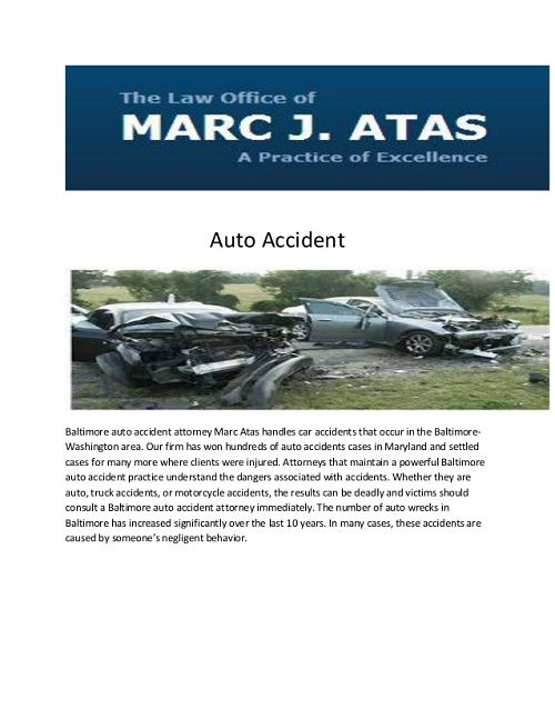 Car Accident Lawyer Baltimore 1