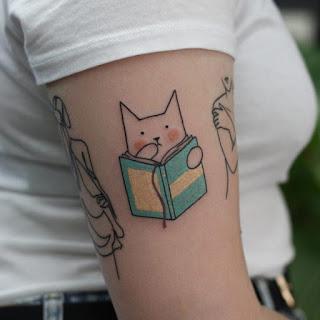 tatuagem-gato-e-livro