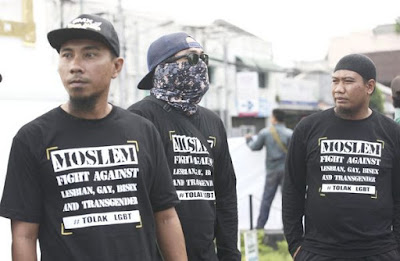Rally against LGBT in Indonesia