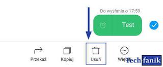 Xiaomi SMS usuwanie zaplanowanej wiadomości