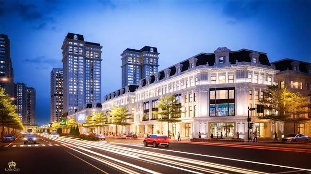 Khu nhà phố thương mại của Louis City Hoàng Mai