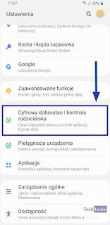 Ustawienia Cyfrowy Dobrostan