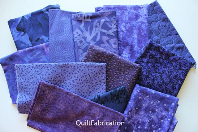 indigo or blue violet fabrics