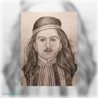 Προσωπογραφία με μολύβι της ζωγράφου Ελένης Χατζηπουλίδου