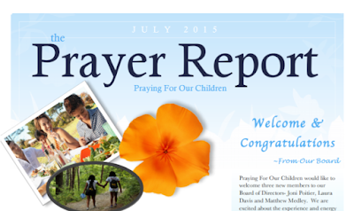 Check Out The Praying For Our Children July 2015 Newsletter