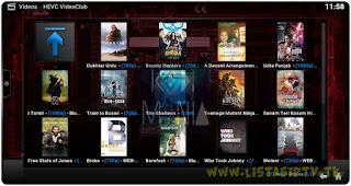 Add-On - HEVC Video Club - KODI - Filmes em HD, Full HD do Uptobox e Upload X
