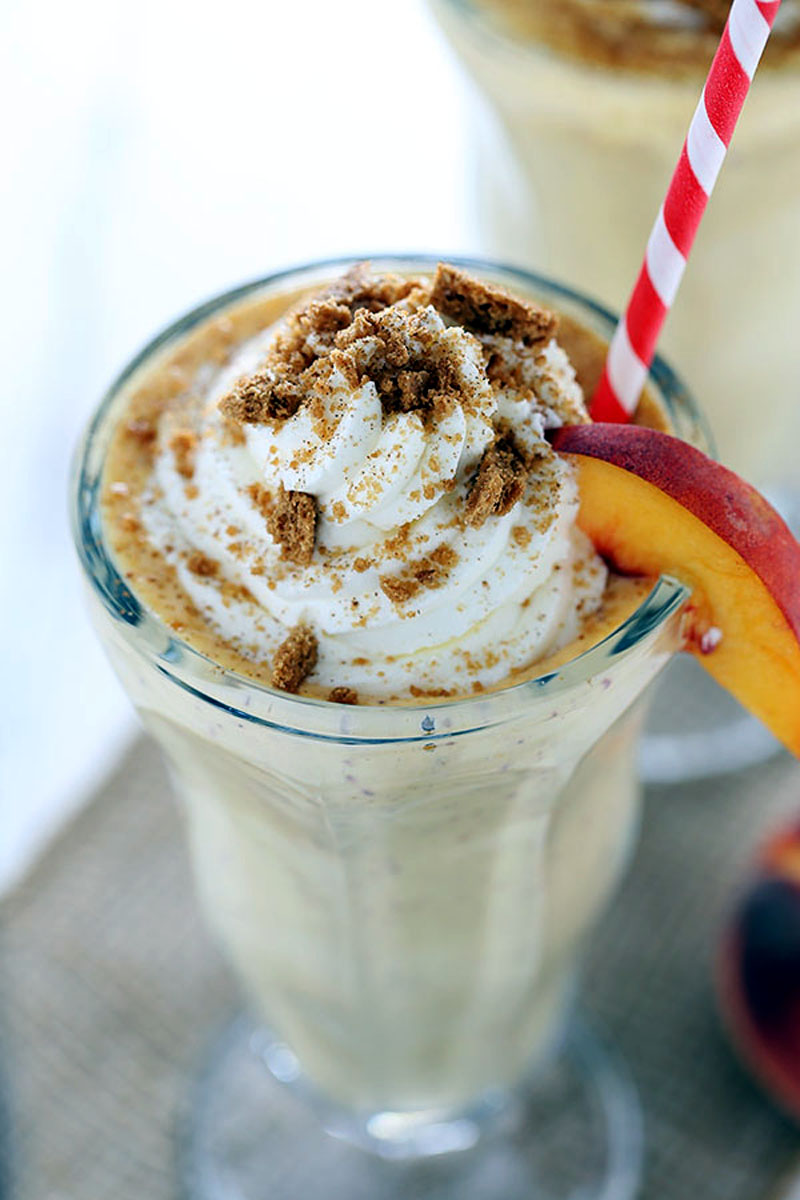 Peach Pie Milkshakes