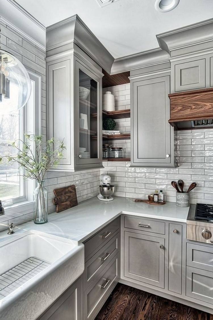 6 Beautiful Light Grey Kitchen Cabinets Ideas - Dream House