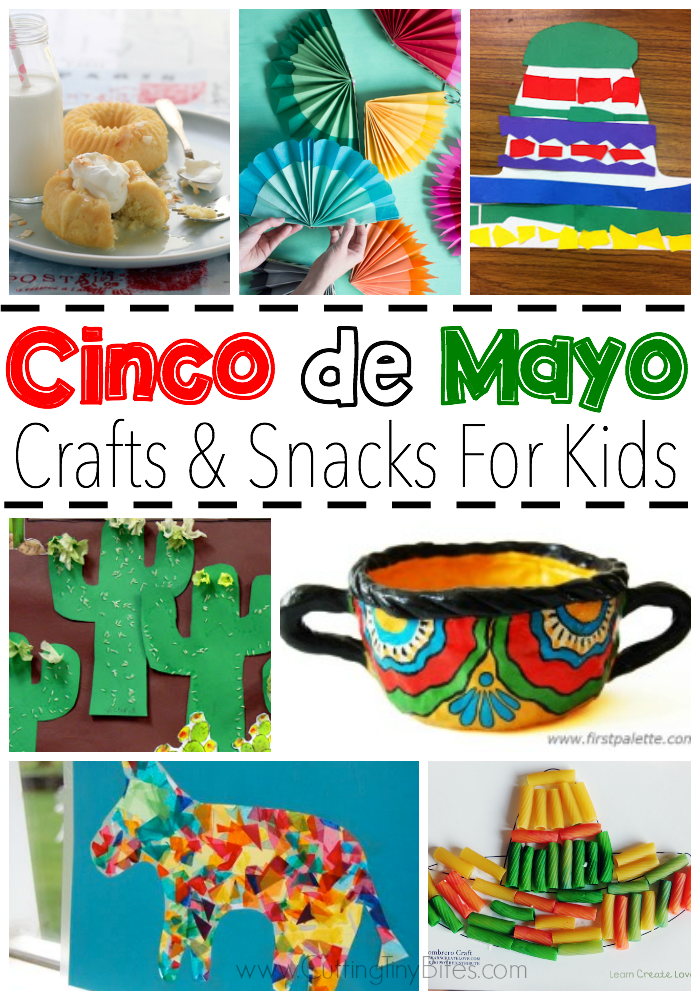 Celebrate Cinco de Mayo with kids! Great collection of crafts and snacks that you can make with your toddler, preschooler, or elementary aged child to help them learn about Mexico and Mexican culture.