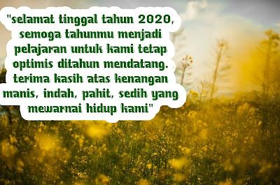 kata kata ucapan selamat tinggal tahun 2020