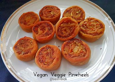 Veggie Pinwheel Tikki Recipe @ treatntrick.blogspot.com