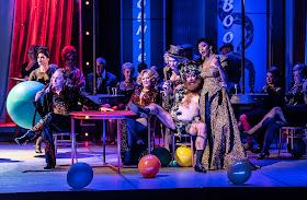 Offenbach: Orpheus in the Underworld - Alex Otterburn, Judith Howarth, Idunnu Munch - English National Opera 2019 (Photo Clive Barda)