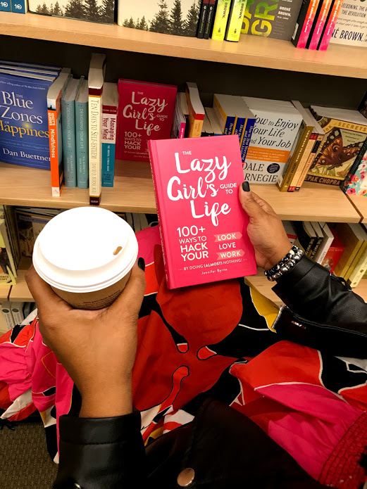 Image: Tangie bell holding coffee reading book at book store. Weekend Bits And Favorites 26:The Recapping Post!