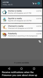 Download Notifications for Pokemon GO v1.2 Apk Terbaru 2016