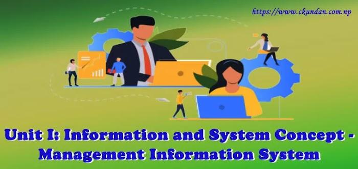 Unit I: Information and System Concept - Management Information System