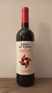 Vino Sierra de Viento, DO Cariñena, Roble 2019 Mercadona
