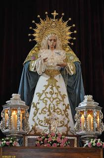 Horario e Itinerario del Rosario Publico de la Aurora de María Santísima de la Candelaria de Jerez de la Frontera