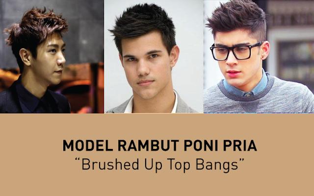 Model Rambut Poni Brushed Up Top Bangs, model rambut