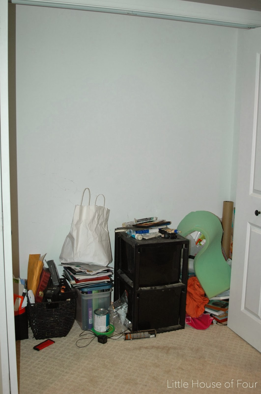 Craft closet before