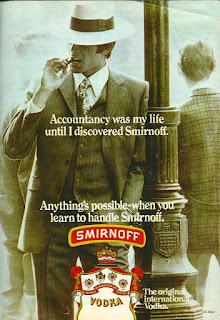 Smirnoff poster: accountancy was my life