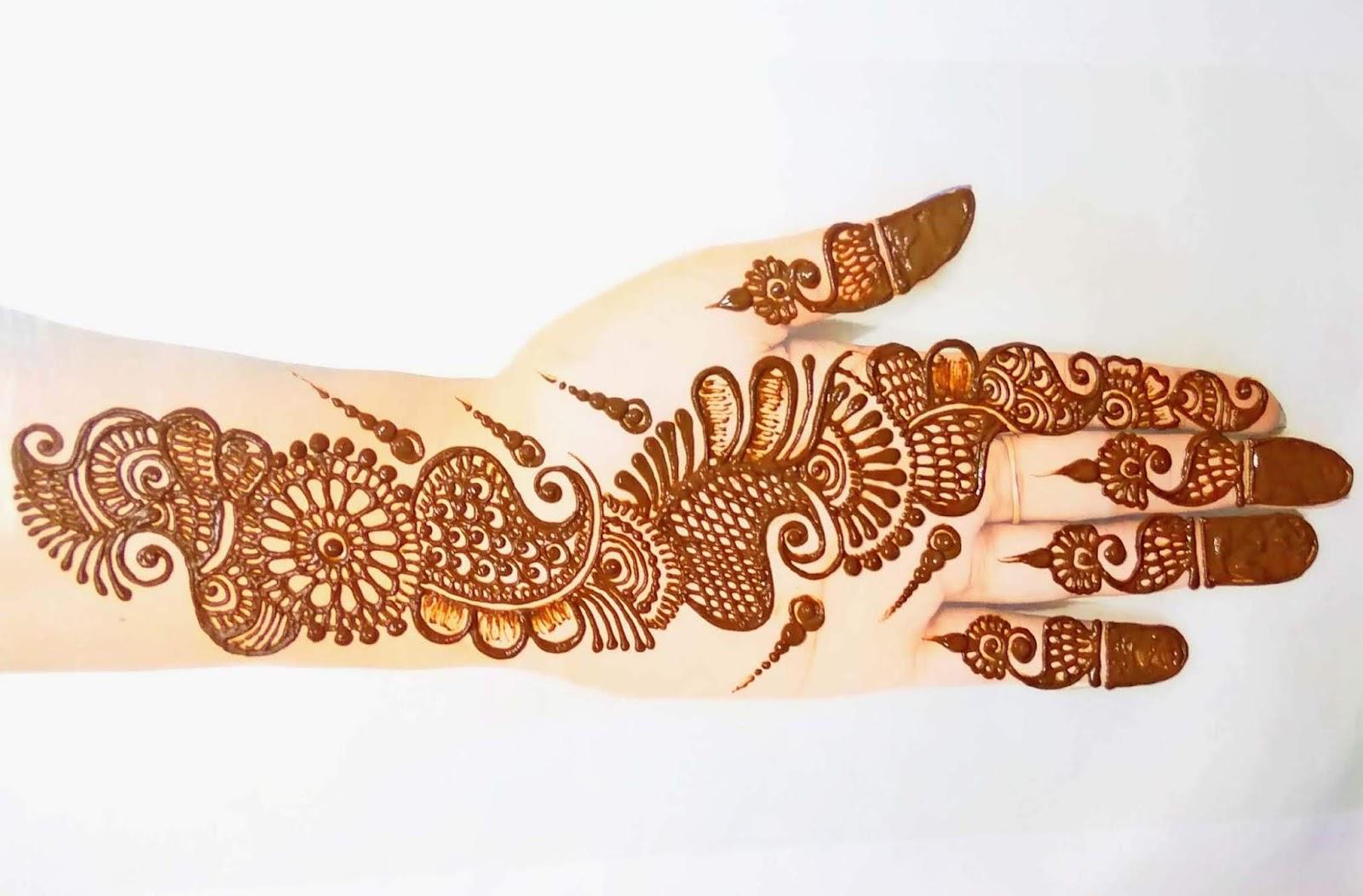 Shaded Mehndi Design