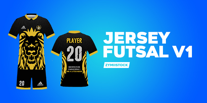Mockup Jersey Futsal V1 Psd Zymiistock