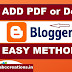 How to Embed PDF or Docs In blogger