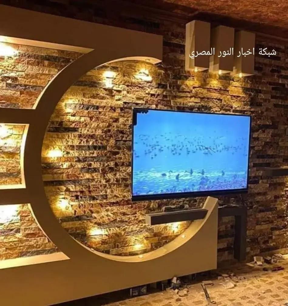 صور احدث ديكورات جبس لشاشة البلازما  | احدث ديكور خشب للشاشة البلازما باستخدام التصميم الحديث من الخشب او الجبس 2021 | احدث صور ديكورات شاشات جبس بورد 2021