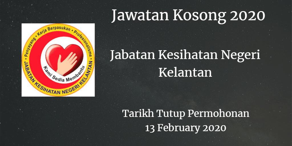 Jawatan Kosong JKN Kelantan 13 February 2020