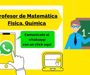 PROFESOR DE MATEMÁTICA, FÍSICA Y QUÍMICA (LA PAZ)
