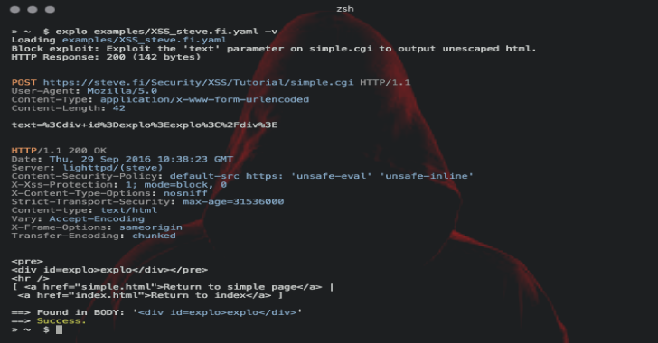Explo : Human & Machine Readable Web Vulnerability Testing Format