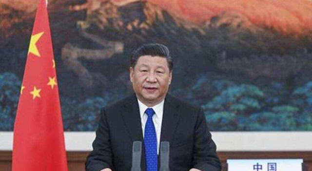 Xi jinping with chinese flag