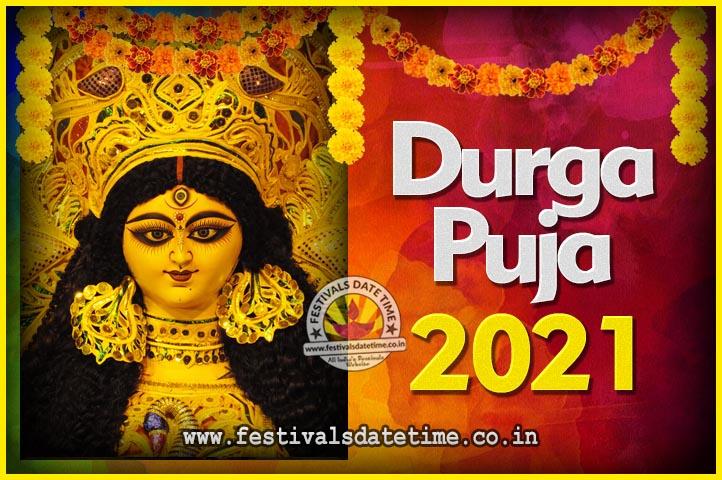2021 Durga Puja Calendar, 2021 Durgotsav Date Time