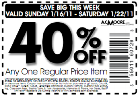 photo regarding Ac Moore Coupon Printable known as Ac moore craft discount codes keep - Mad 8 printable discount coupons