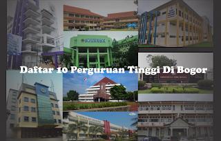 Daftar 10 Perguruan Tinggi Di Bogor