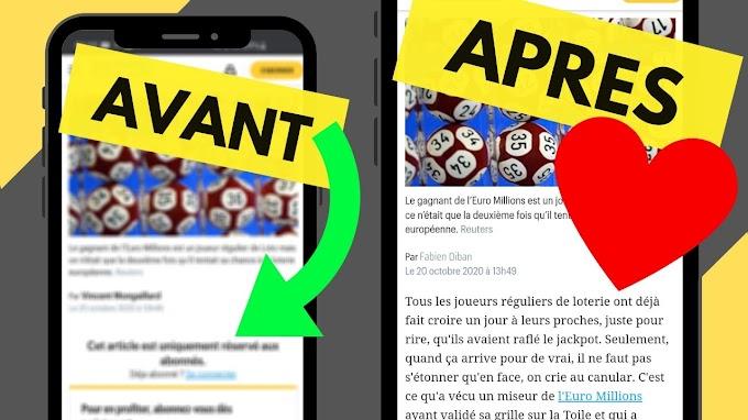 Lire gratuitement les articles en ligne réservés aux abonnés (PC/Android)