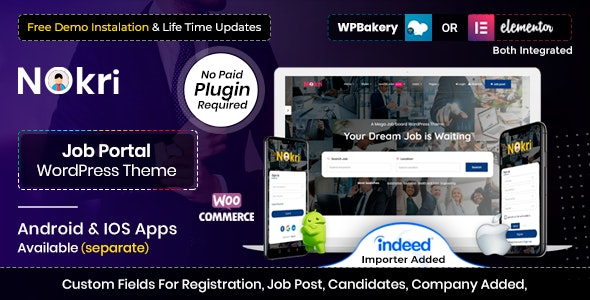 Nokri pamplete–Job Board WordPress Theme