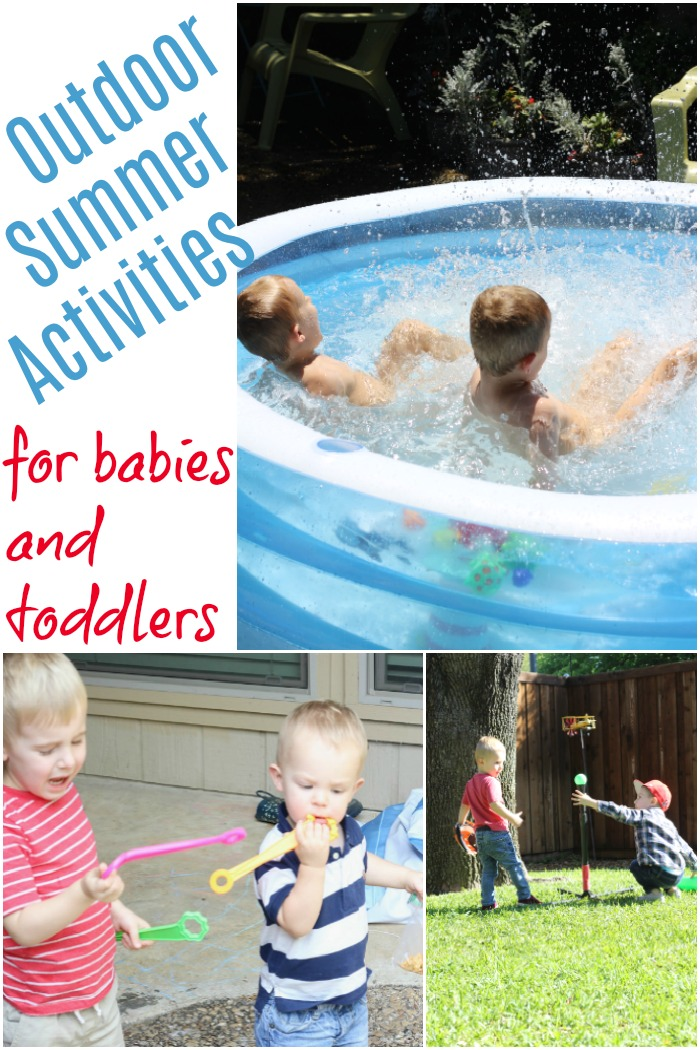 Activities to do outside when your young children are on summer break