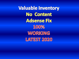 Valuable Inventory No Content Adsense Fix