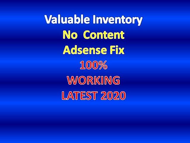 Valuable Inventory No Content Adsense Fix