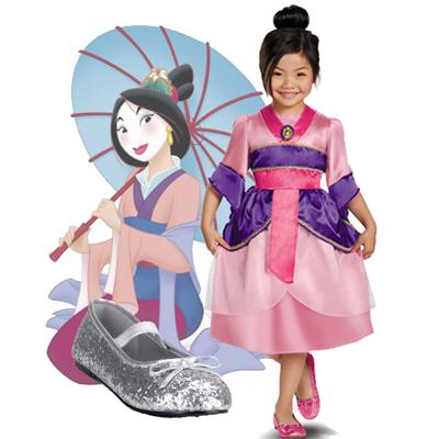 Item# D59210 u2013 Disney Princess Mulan Sparkle Classic Child Costume Item# P11001 u2013 Star Glitter Child Ballet Flat  sc 1 st  Pure Costumes & Disney Princess Costume Ideas
