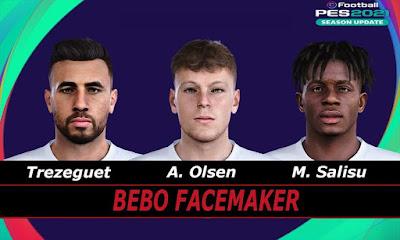 PES 2021 Faces Olsen & Salisu & Trezeguet by Bebo