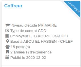 Employeur : ETB KOBZILI BACHIR