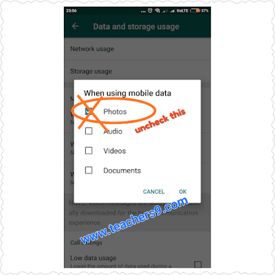 How to Stop Auto Downloading and Saving of Pictures, Videos and Other Media on Whatsapp for Android step by step
