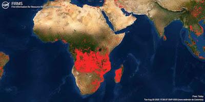 Incendios en Africa