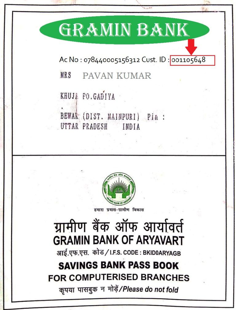 GRAMIN BANK example- CIF NUMBER